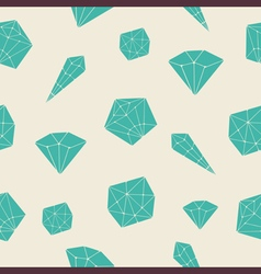 Seamless pattern crystal vector