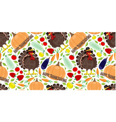 seamless pattern for thanksgiving day vector image