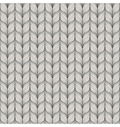 Seamless pattern with abstract hand drawn knitted vector image