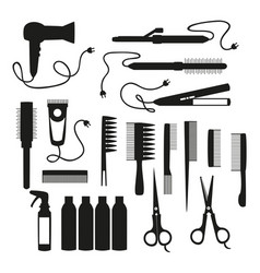 set for hair salon vector image