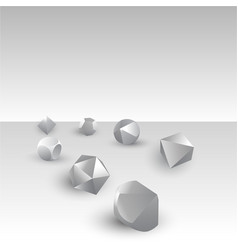 set of diy d20 dices rpg game realistic template vector image