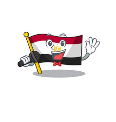 Singing flag egypt folded in mascot cupboard vector