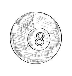 sketch of a billiard ball vector image