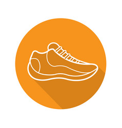 sneaker flat linear long shadow icon vector image