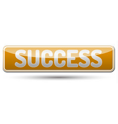 Success - glossy banner with shadow vector