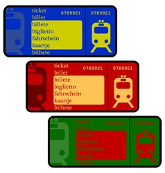 Train tickets vector