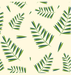 Tropical leaves pattern seamless botanic texture vector