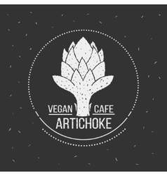 Vegan cafe menu logo template food design vector