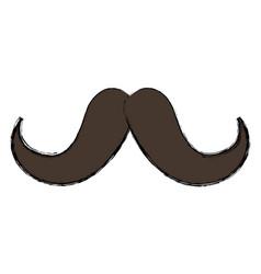 Vintage hipster mustache vector