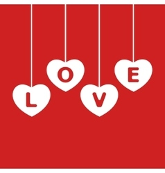 white hearts on red background vector image vector image