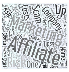 Affiliate Marketing Tips On How To Spot A Scam vector image