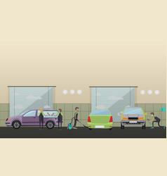 car service machine repair concept vector image