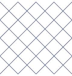 Navy Blue Grid White Diamond Background vector image vector image