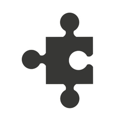 puzzle piece isolated icon design vector image