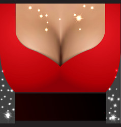 Sexy girl wearing red dress Party poster template vector image vector image