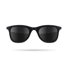 Sunglasses with Black Glasses on White Background vector image vector image