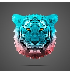 Bengal tiger poly Side light Rose Quartz vector image vector image