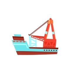 Cargo Ship Toy Boat vector image vector image