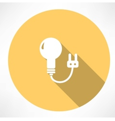 lamp with charging icon vector image