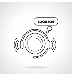 Online support sign line icon vector image