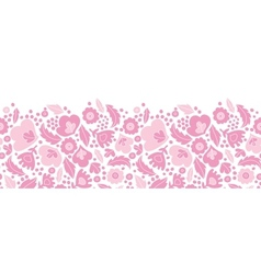 Soft pink floral silhouettes horizontal seamless vector image