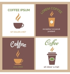 Steaming coffee or chocolate cup icons vector image vector image