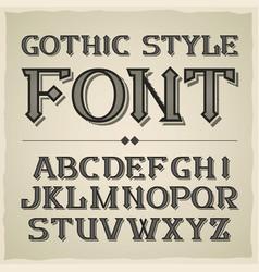 vintage label font modern style vector image