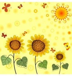 yellow summer background vector image vector image