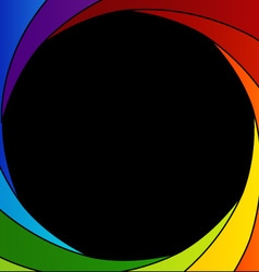 Colorful Shutter aperture background vector image