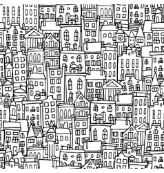 European cityscape seamless pattern for your vector image
