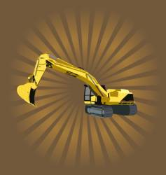 heavy machinery vector image