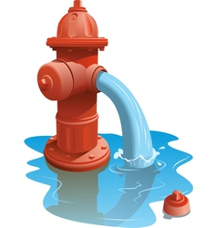Open fire hydrant vector