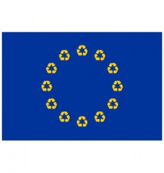 recycling Europe vector image vector image