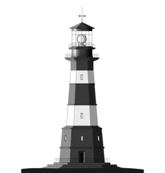 detailed lighthouse - isolated on white vector image vector image