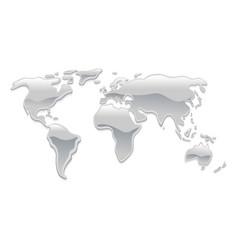 Liquid metal world map vector