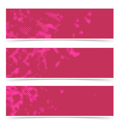 red abstract halftone dotted vintage style comic vector image