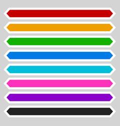 8 color octagonal button banner shape colorful vector image