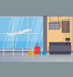 Airport airplane terminal gate arrival departure vector
