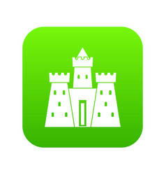 ancient castle palace icon digital green vector image