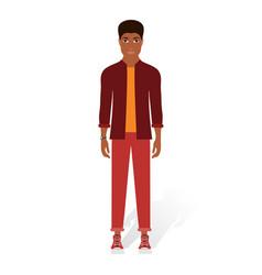 Black man in casual clothes vector