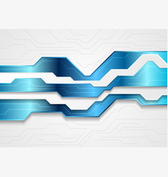blue and grey abstract technology background vector image