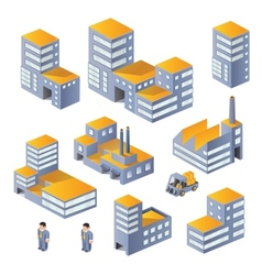 Buildings in the isometric vector image vector image