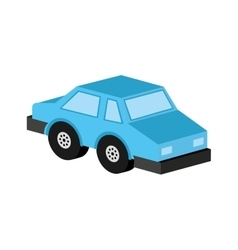 Car sedan blue icon design vector