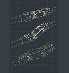cardan shaft joint vector image