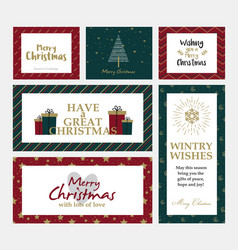 christmas cards design 3 vector image