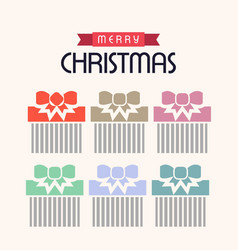 christmas set of gift boxes vector image