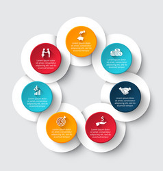 circle infographic with 7 options or parts vector image