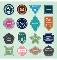 Collection of nautical labels badges and icons vector