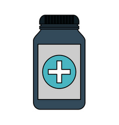 color image cartoon remedy bottle with lid and vector image vector image