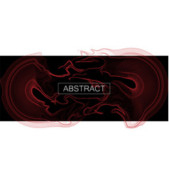 cover template with particles liquid dynamic flow vector image